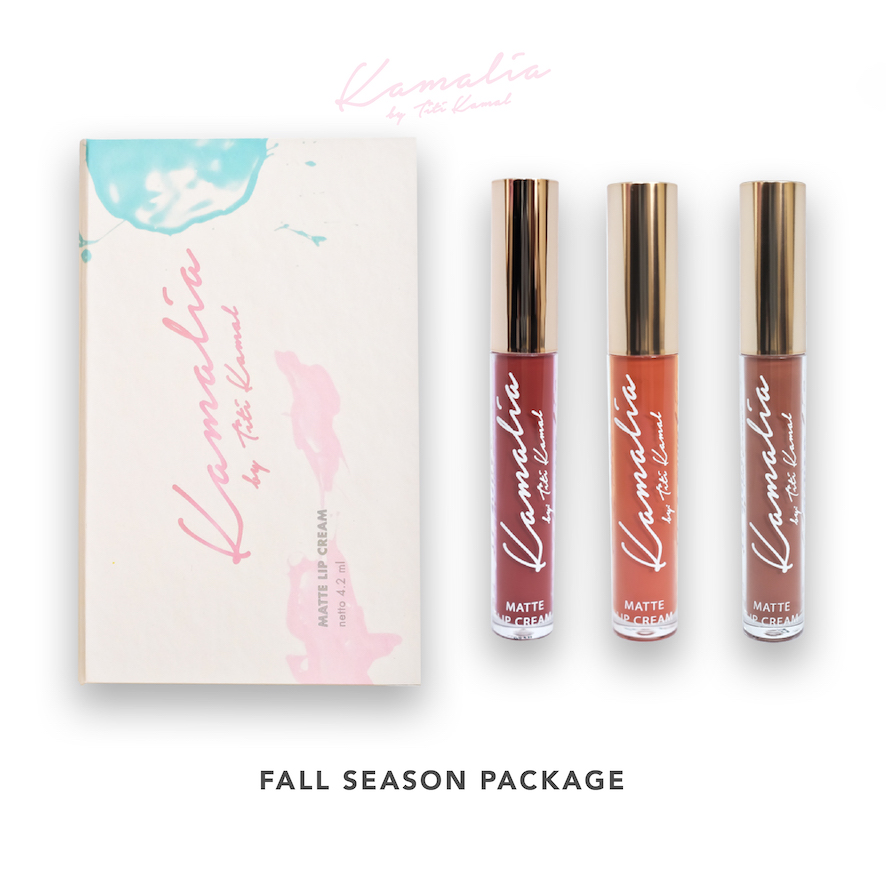 Kamalia Beauty - Kamalia Beauty Lip Matte Fall Season Package - Maroon Shade - Sweet Choco - Fresh Orange @ 4.2 ml