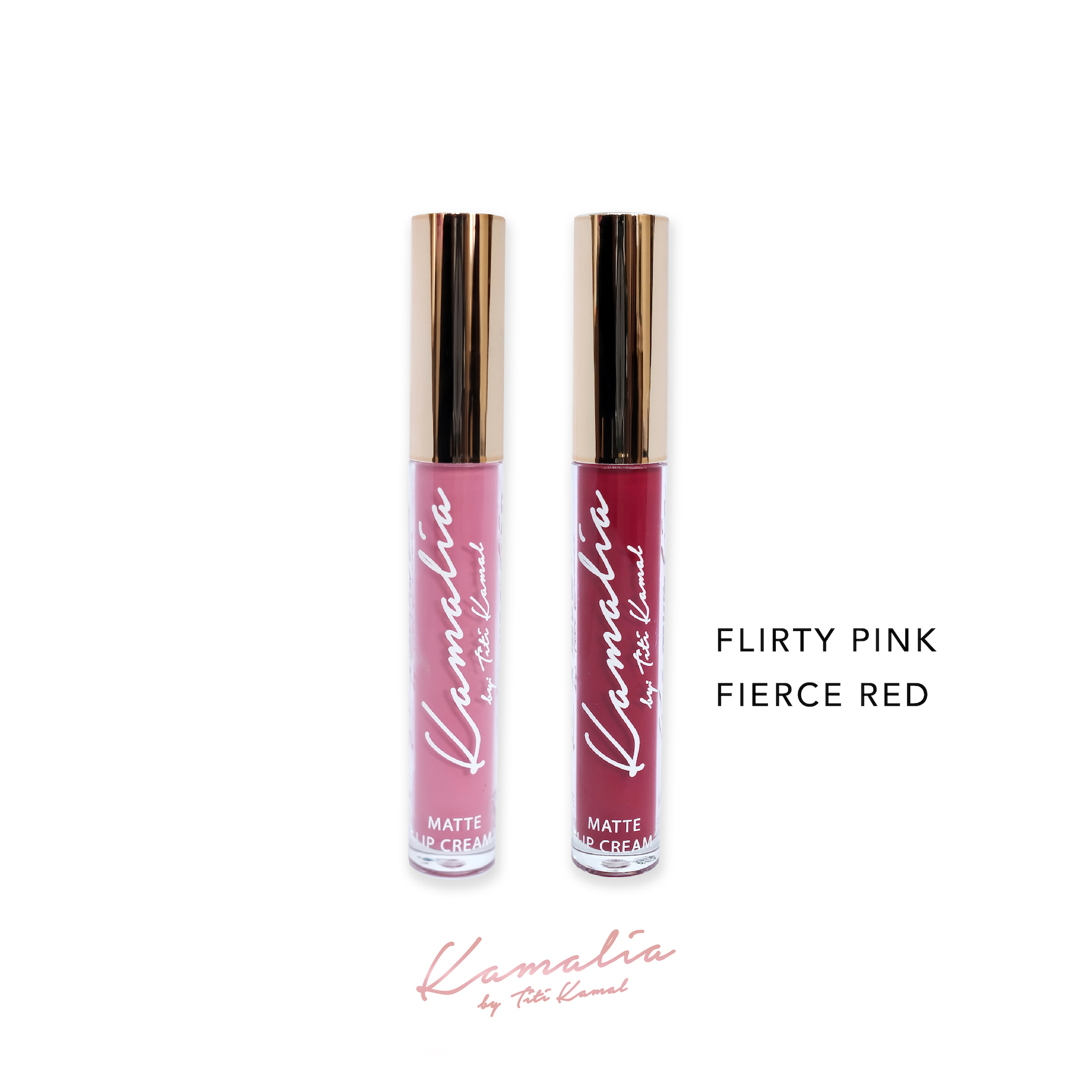 Kamalia Beauty - Kamalia Beauty Lip Matte - Mix Flirty Pink & Fierce Red 4.2 ml