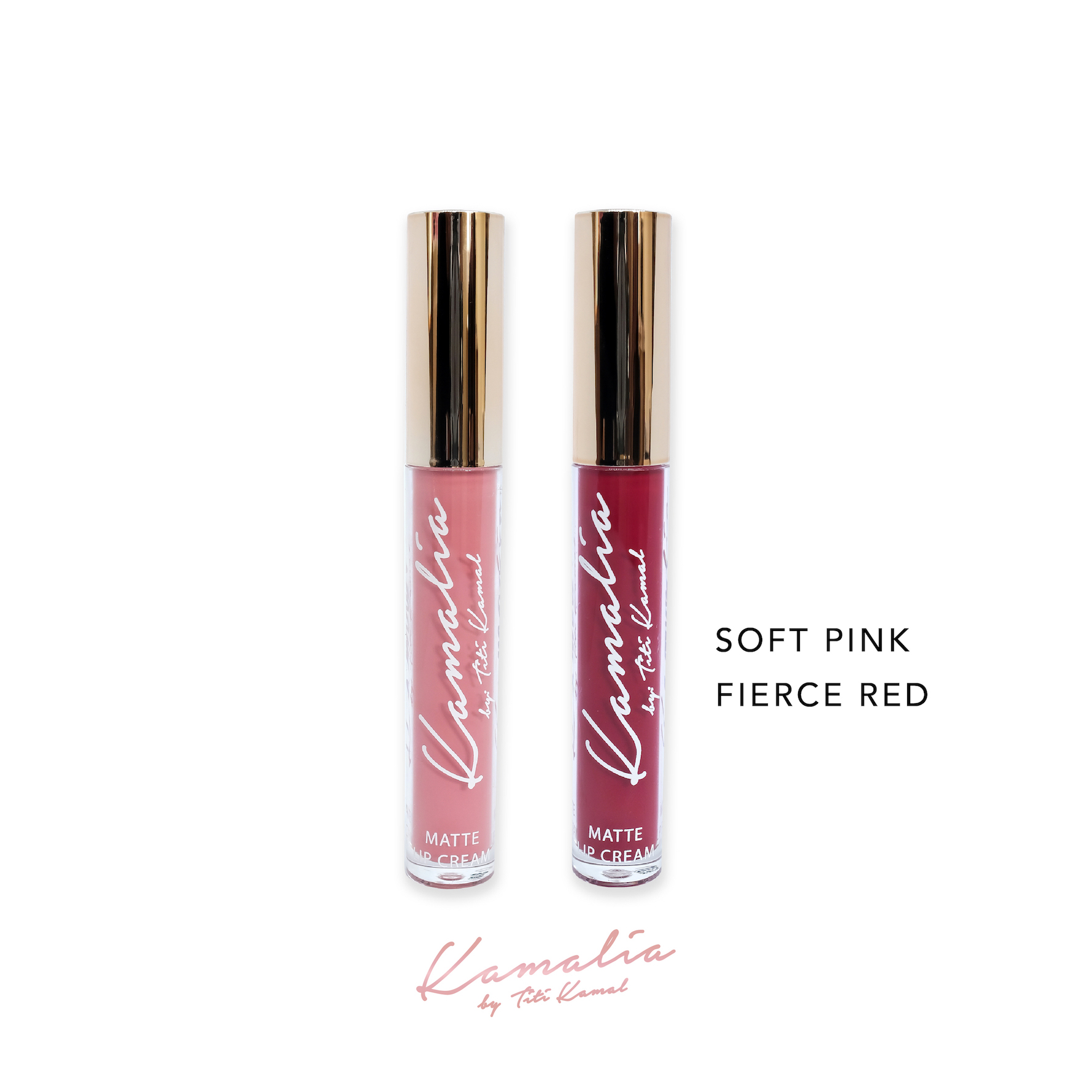 Kamalia Beauty - Kamalia Beauty Lip Matte - Mix Soft Pink & Fierce Red 4.2 ml